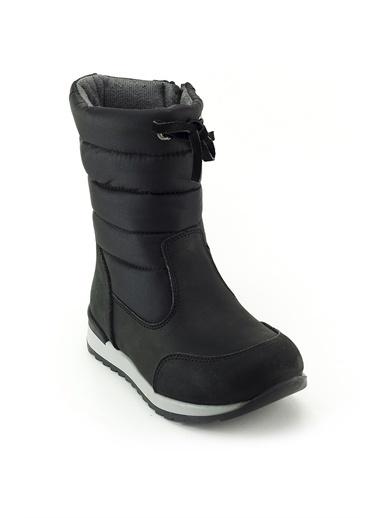 minipicco Minipicco Kız Cocuk  Deri Ortopedik Desteli Çocuk Çizme Siyah